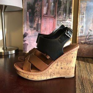 Mossimo wedge sandal Black & brown Size 7.5